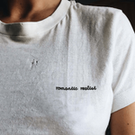 """Romantic Realist"" EMBROIDERED TEE"
