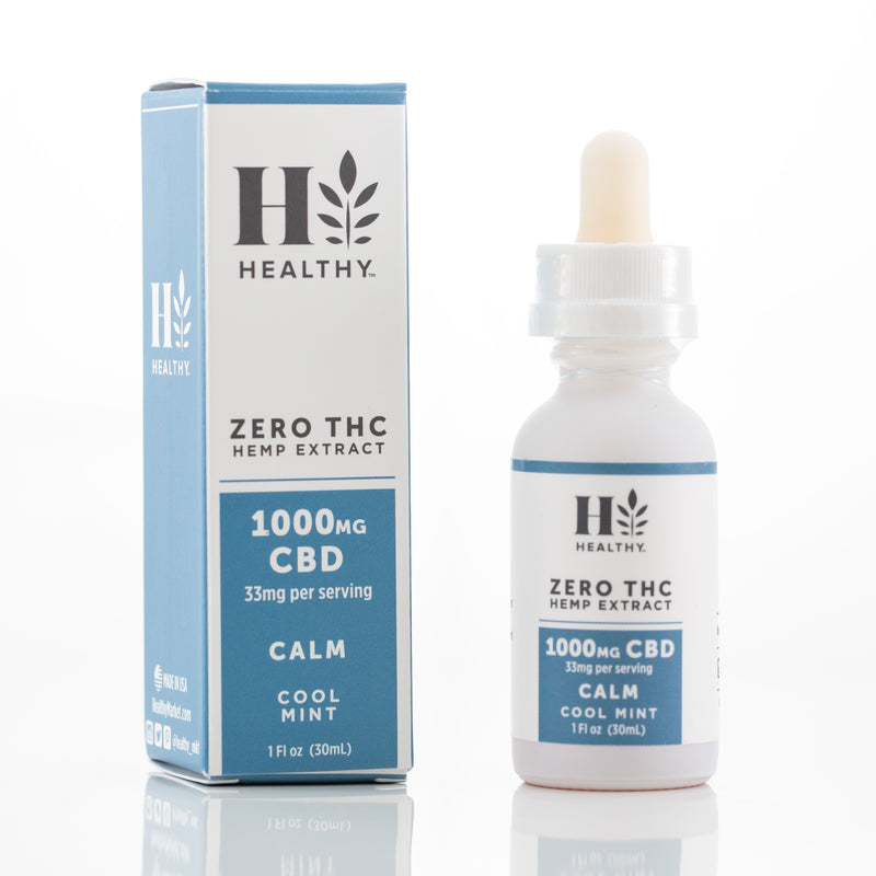 1,000 mg Zero THC Hemp Extract Tincture