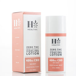 Zero THC Hemp Extract Cooling Lotion 400mg CBD