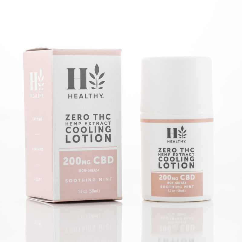 Zero THC Hemp Extract Cooling Lotion 200mg CBD