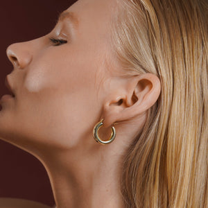 Golden Dome Earring Vermeil