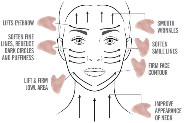 example of how to use a gua sha for facial yoga