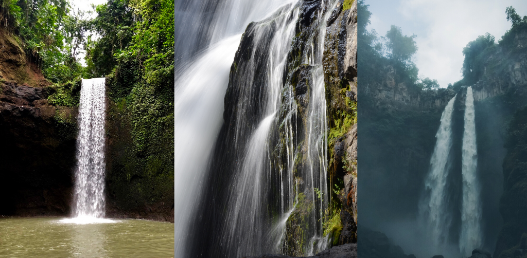 waterfalls in the middle of the nature of Bali island