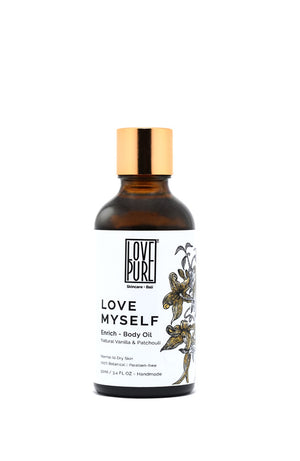 Moisturizer & anti-aging Body Oil with Vanilla - Love Myself