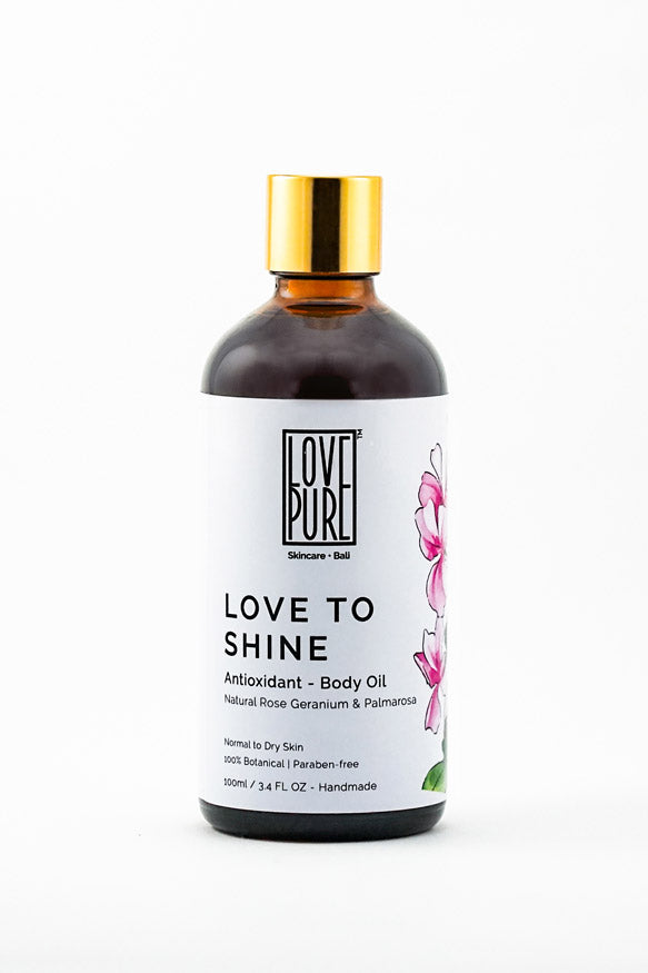 Anti-aging, moisturizer & floral Body Oil - Love to Shine