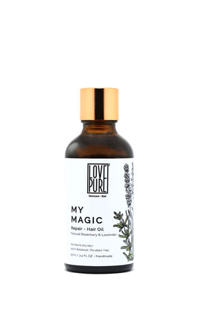 Hair oil: repairs, shapes and hydrates hair - My Magic
