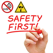 safety warnings for kids and sharp edge reminders