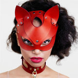 Leather Look Cat Mask