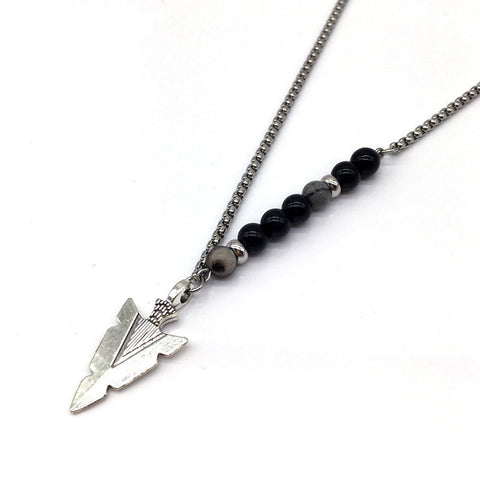 Vintage Beaded Arrow Necklace