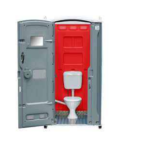 Sewer Connect Portable Toilet Red