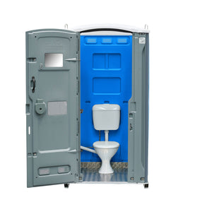 Sewer Connect Portable Toilet Royal Blue