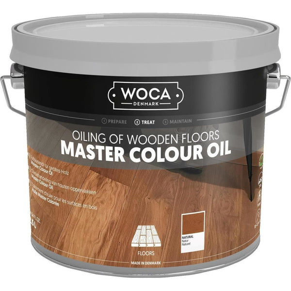 Lot de 9.5 litres Master Colour Oil - Noir - Woca WOCA