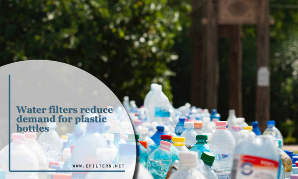 Water filters reduce demand for plastic bottles