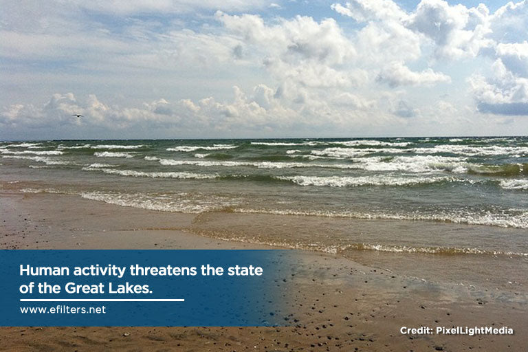 Human activity threatens the state of the Great Lakes