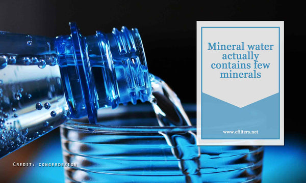 Mineral water actually contains few minerals