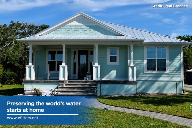 Preserving the world's water starts at home