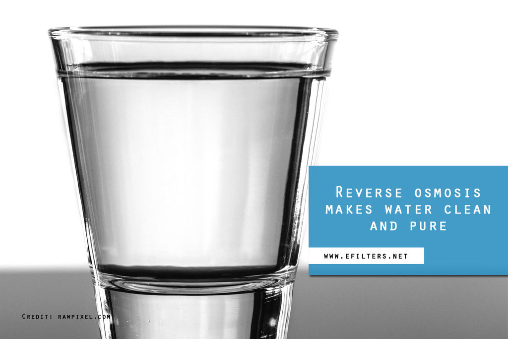 Reverse osmosis makes water clean and pure