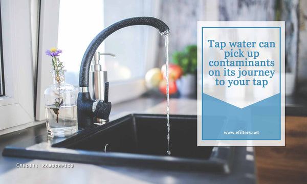 Tap water can pick up contaminants on its journey to your tap