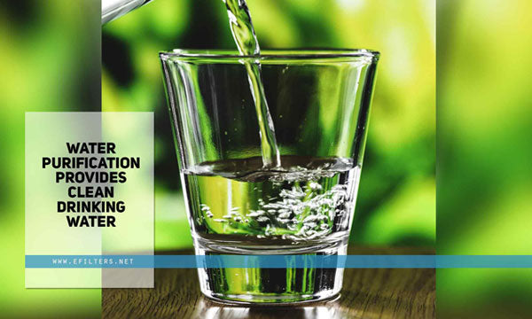 Water purification provides clean drinking water