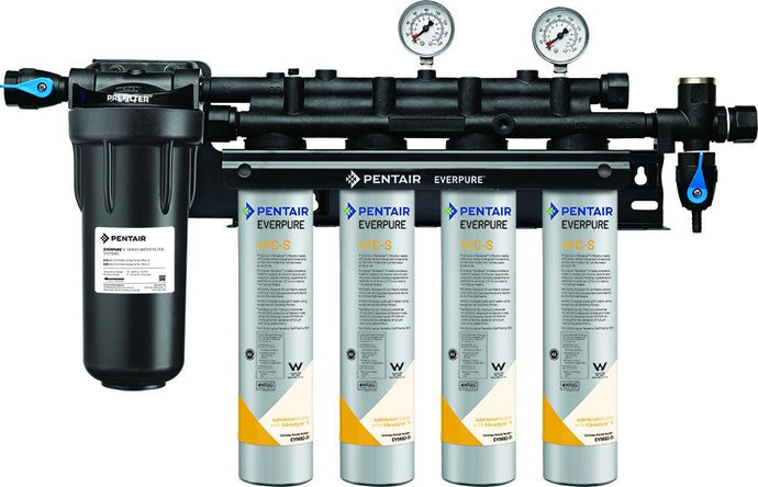 Everpure Insurice PF Quad 4FCS Water Filter System EV9327-44 - Efilters.net