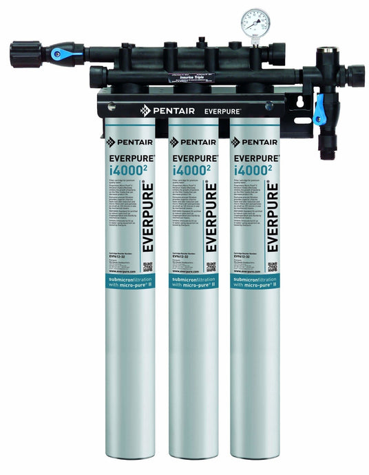 Everpure Insurice Triple i4000(2) Water Filter System EV9325-03 - Efilters.net
