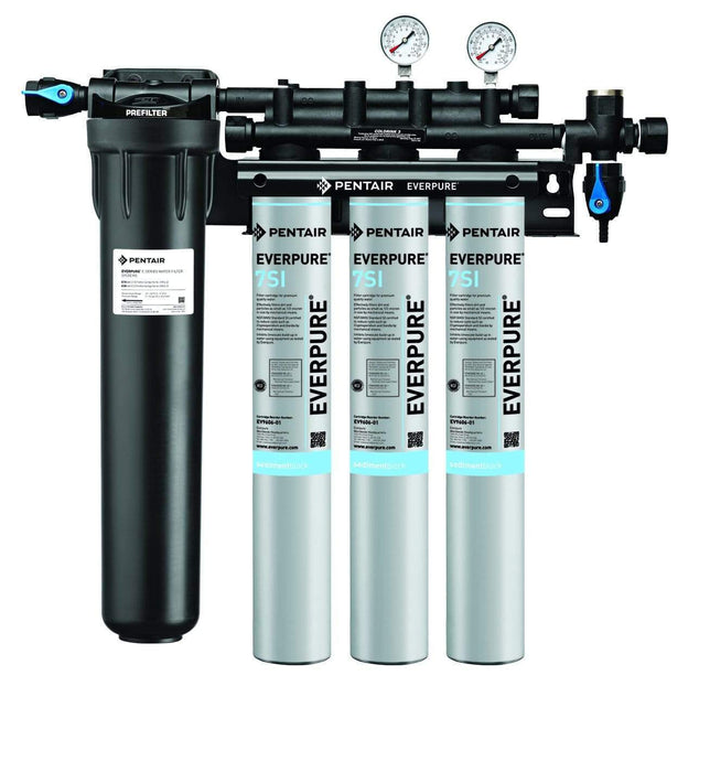 Everpure Insurice Triple PF-7SI Water Filter System EV9324-75 - Efilters.net