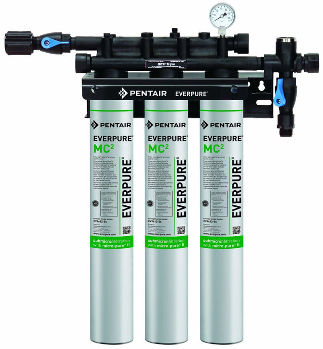 Everpure QC7i-MC(2) Triple Water Filter System EV9275-03 - Efilters.net