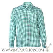 "Load image into Gallery viewer, Authentic Bavarian green chequered shirt ""Manne""-Bavari Shop"