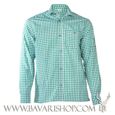 Authentic Bavarian green chequered shirt