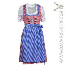"Load image into Gallery viewer, Bavarian themed statement Midi Dirndl ""Bavaria""-Bavari Shop"