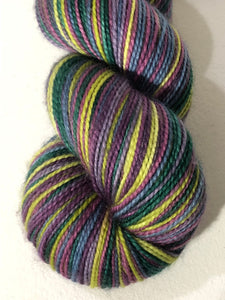 The Durrels 6 Color Stripes Self-Striping; Charles Merino Fingering Yarn