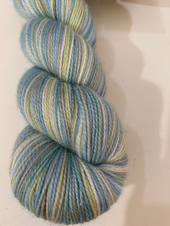 Tweasure Your Wuv Princess Bride Club 6 Color Stripes Self-Striping; Oscar Sparkle Merino Fingering Yarn