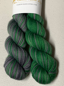 Slytherin Polar Opposites Self-Striping; Charles Merino Fingering Yarn