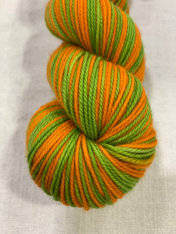 Peter Pumpkin Halloween 2 Color Stripes Self-Striping; Charles Merino SPORT Yarn