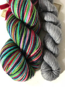 Spirited Away 6 Color Stripes Self-Striping; William Merino Fingering Yarn
