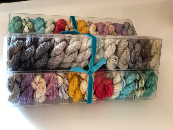 Maigret's Dead Man; Minis set on John Merino Fingering Weight Yarn