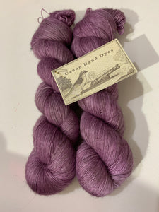 Bright Lilacs; Bruce Yak Silk Single Ply Lace Yarn