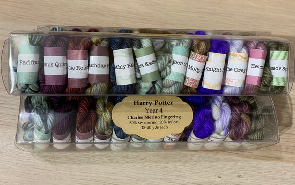 Harry Potter Inspired Minis Set; Year 4; Minis set on Assorted Fingering Weight Yarn Bases