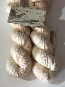 The Queen's Pearls; Contrast Color on John Merino Fingering Weight Yarn