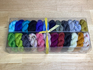 The Count of Monte Cristo; Minis set on Charles Merino Fingering Weight Yarn