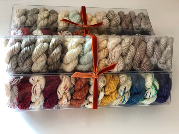 Death on the Nile; Minis set on John Merino Fingering Weight Yarn
