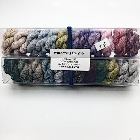 Wuthering Heights; Minis set on John Merino Fingering Weight Yarn