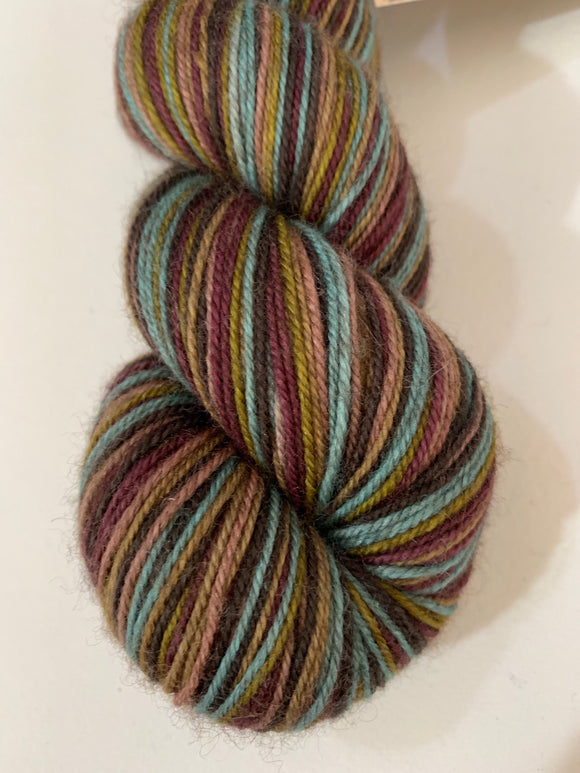 Regency 6 Color Stripes Self-Striping; Bruce Yak Merino Fingering Yarn