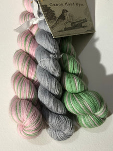 Knit Lit Polar Opposites Self-Striping; William Merino Fingering Yarn