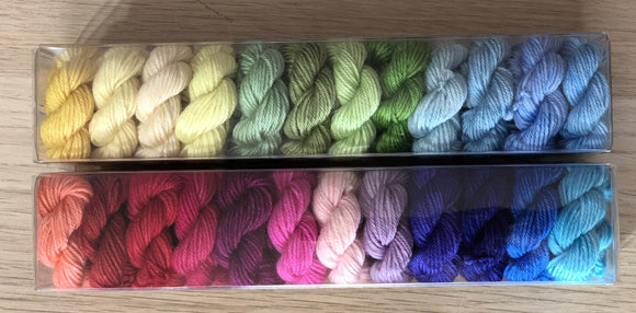 The Queen's Wardrobe; Minis set on John Merino Fingering Weight Yarn