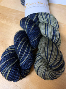 The Lords, Love's Labour's Lost Polar Opposites Self-Striping; Bruce Yak Merino Fingering Yarn