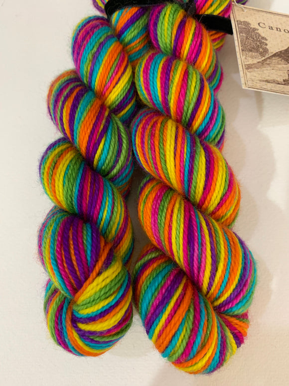 Rainbows 6 color Self-Striping; Charles Merino SPORT Yarn