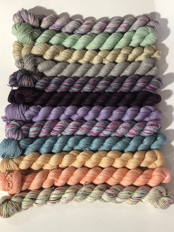 Mixed Bases, Crown Wools KAL Kit; Charles Merino Yarn
