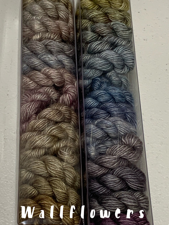 Wallflowers Minis set; Yak SILK Merino Fingering Weight Yarn