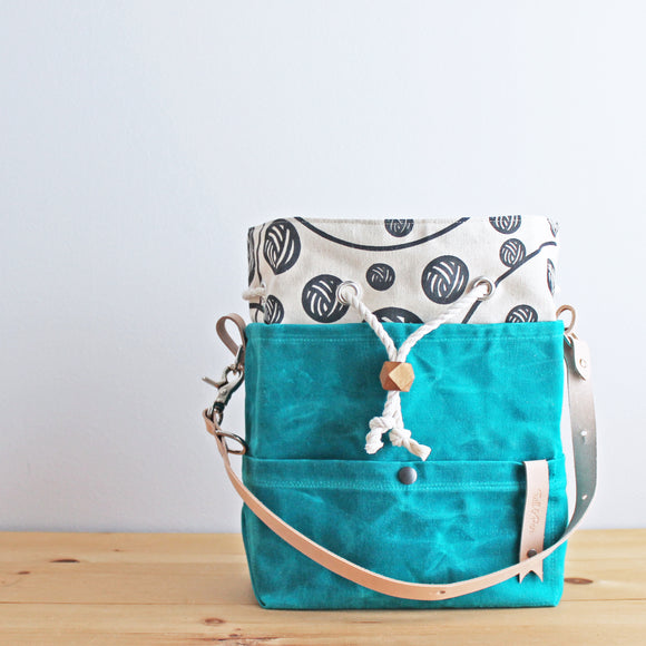 Twill & Print Project Bag; Indie Untangled